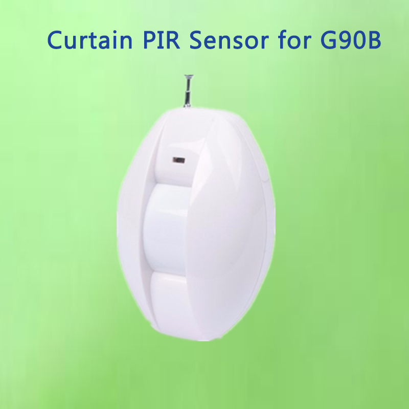 Wireless Curtain PIR Sensor Window Curtain Motion Detector for wifi gsm burglar alarm system G90B wired pir curtain detector for burglar alarm system