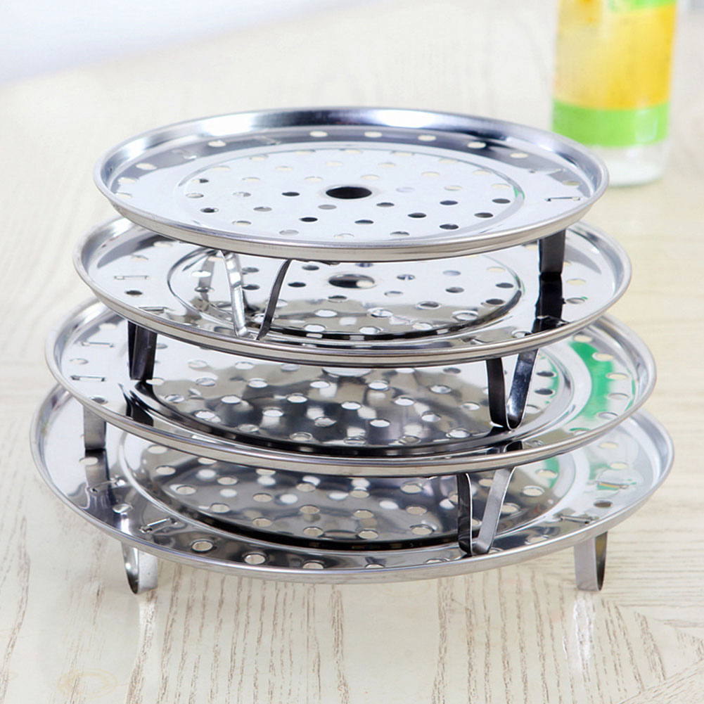 4Sizes Stainless Steamer Steaming Rack Drawer Insert Stock Pot Steaming Tray Stand Cookware Tool #20
