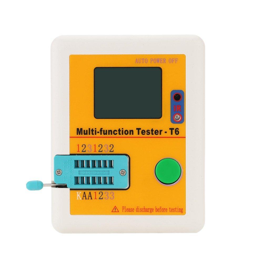 Hot Sale LCR-T6 Multi-functional Transistor Tester LCD Backlight ransistor Detector MOSFET NPN PNP Triac MOS Detector td 0 200v voltage tv laptop led lcd backlight tester lamp beads light board transistor geiger tester