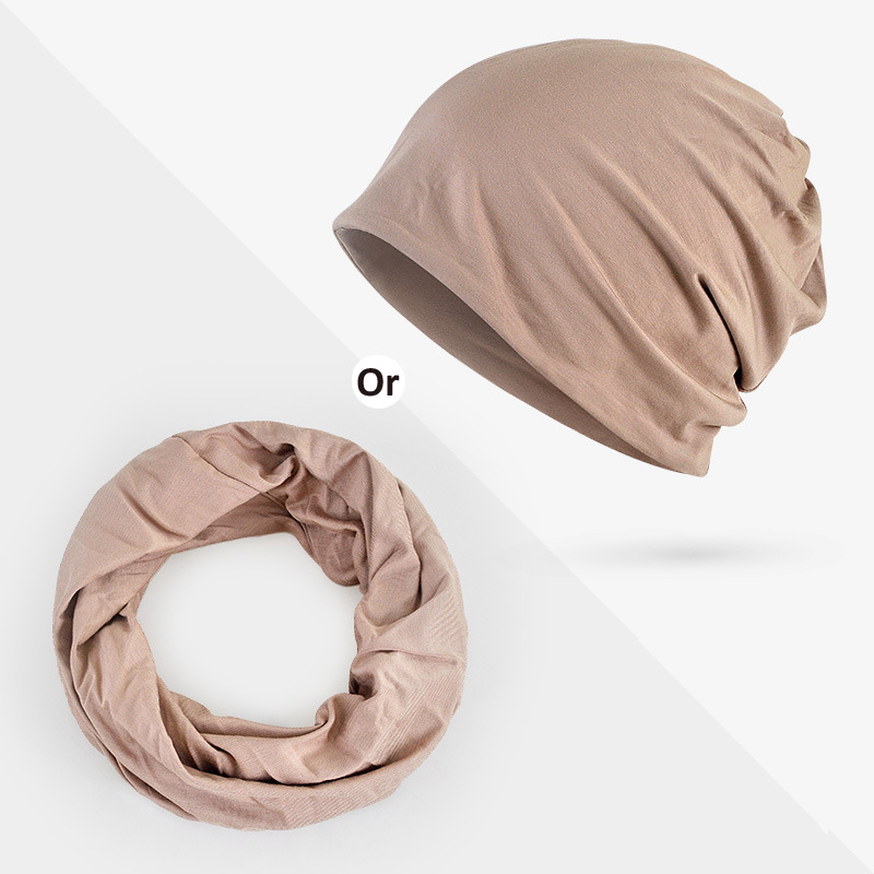 Thin Spring Summer Ponytail Beanie Turban Caps Pregnant Women Caps Soft Nightcap Modal Casual Skullies Men Women Hats Neck Scarf in Men 39 s Skullies amp Beanies from Apparel Accessories