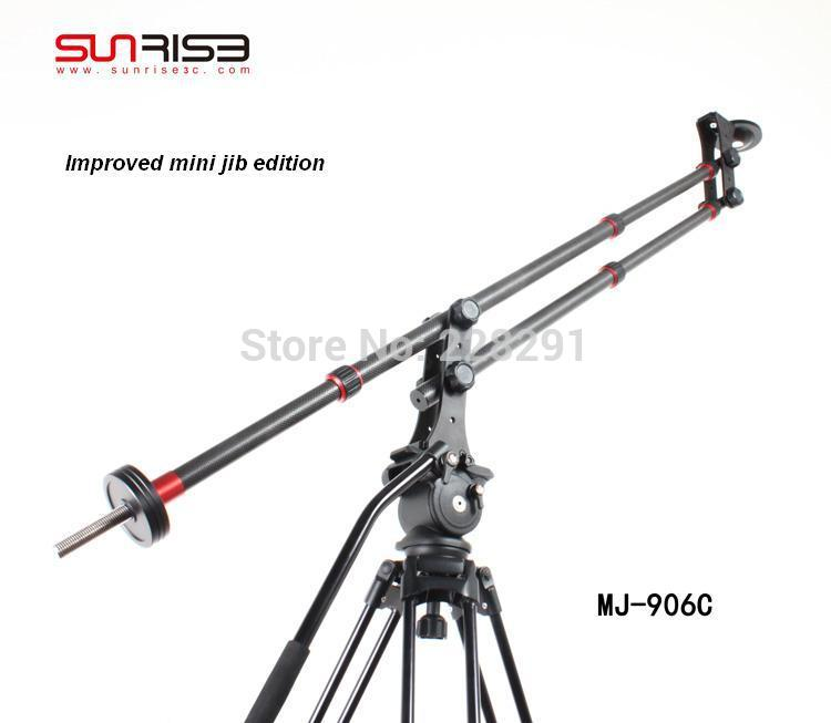 Free shipping carbon fiber Sunrise portable mini JIB crane camera ashanks photography mini jib crane carbon fiber portable pro dslr video camera jib arm crane standard version bag free shipping