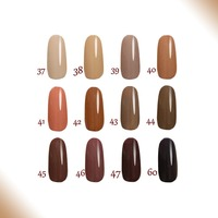 Free Shipping Toffee Series 6pcs FeiFan Gel Nail Polish 15ml 12 Colors For Choice