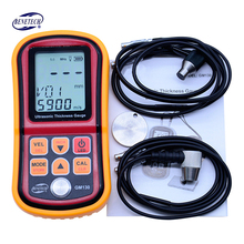 Cheaper GM130 LCD Digital Ultrasonic Thickness Gauge tester steel thickness tester 1.0 to 300MM Sound Velocity Meter resolution 0.01mm
