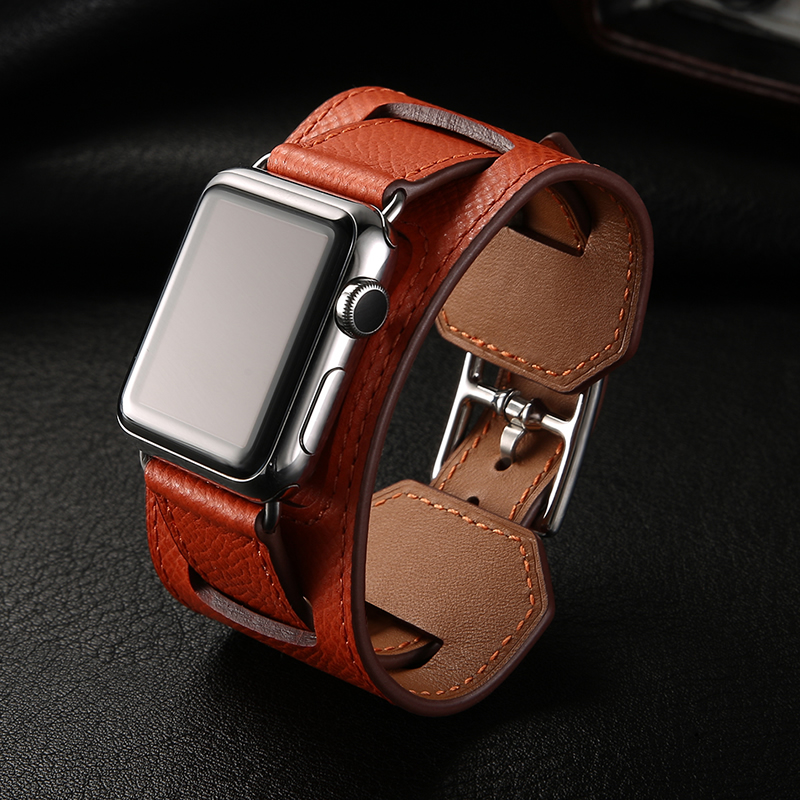 Genuine Leather Watch band Strap For herm Apple Watch Band  Series 1 2 3 iwatch 38 42mm watchbands  genuine leather watch strap with lugs adapters for apple watch 42mm series 1 series 2 us flag