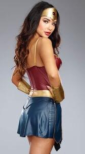 Image 4 - Deluxe Wonder Woman Diana Prince Cosplay Costume Dawn Of Justice Superhero Superwomen Fancy Dress
