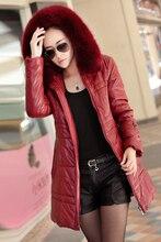 Новый кожаное пальто женщин мода кожаная куртка для женщин женский толстые теплые вещи зимняя куртка для леди Большой размер 938