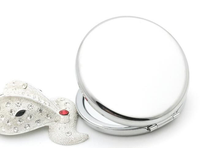 Make Up Spiegel : Mm taschenspiegel silber leere tasche vergrößerungs kosmetische