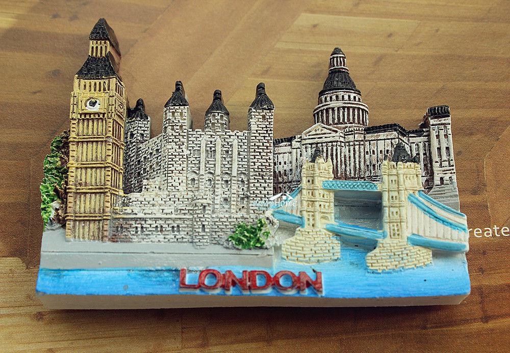 UK Britain London Landmarks Tourist Travel Souvenir 3D Resin Fridge Magnet Craft GIFT IDEA