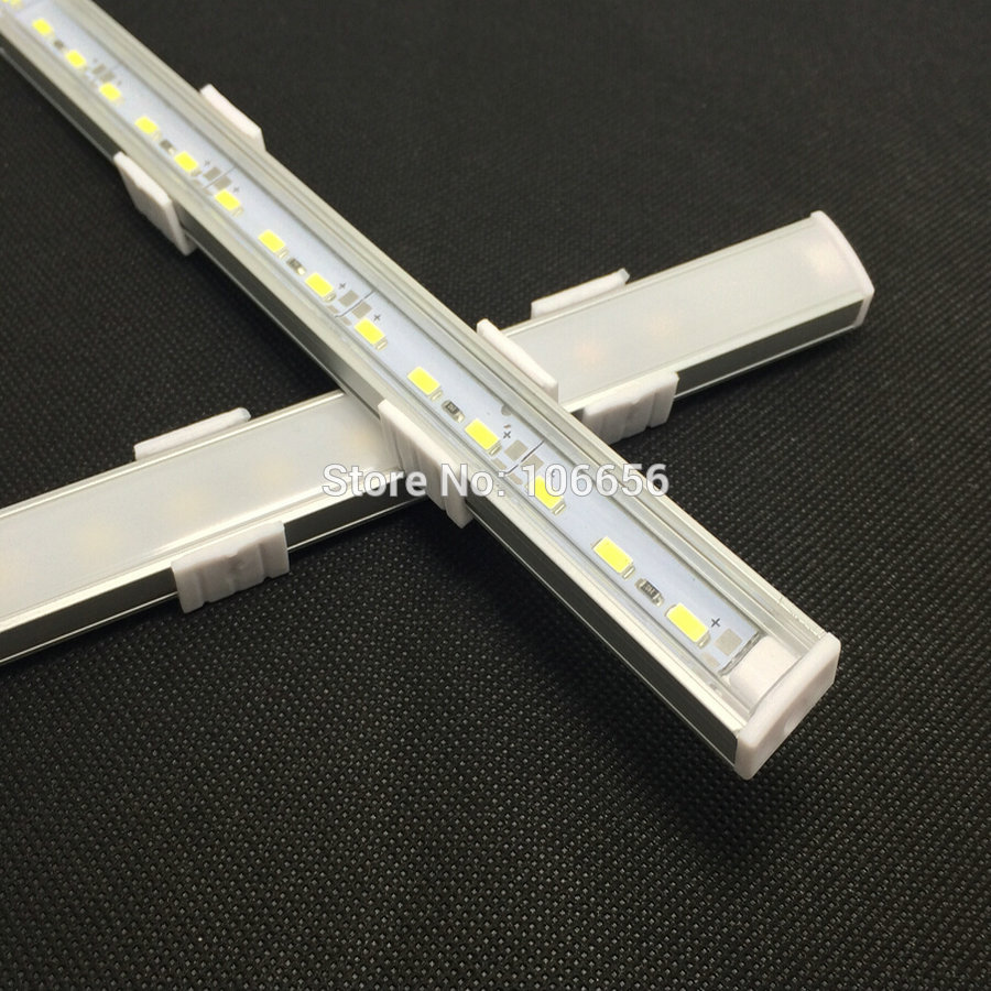 US $13 84 48% OFF|led aluminium profile rigid strip bar light 12v 5730 SMD  36led Flat U housing kitchen lights High Brightness 50cm led strip bar-in