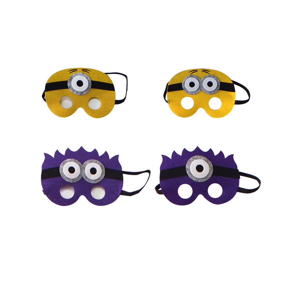 Minions Masks Hero Mask for Kids Halloween Christmas Birthday Party Dress up Costume Cosplay Mask Kids Children Party Favor Gift
