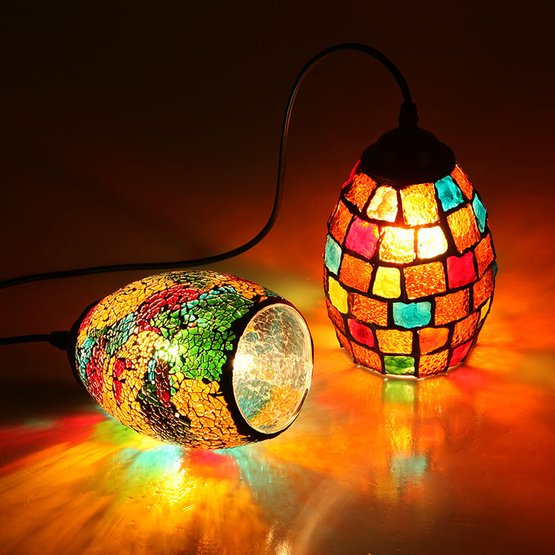 Tiffany Bohemia Style Pendant Light Colorful Glass
