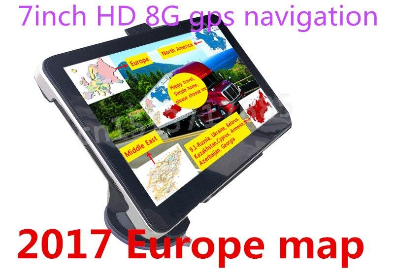 Орианы новый 7 дюймов HD Автомобильный GPS navigationfm/8 ГБ/128 МБ новые Географические карты для России/Казахстан европа/США + Канада/Австралия грузовик навигатор