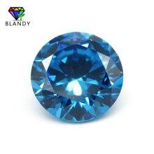 1000 pçs/lote 0.8mm 2.5mm redondo brilhante corte acquamarine cz gems sintético solto seablue zircónio cúbico pedra para jóias