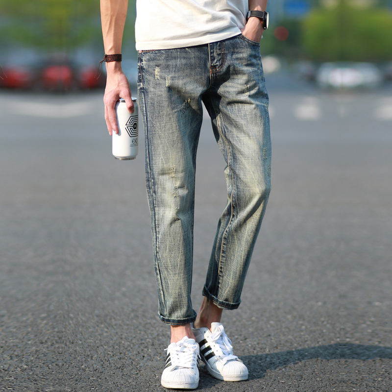 Aliexpress.com : Buy Ripped jeans for men jeans men skinny jeans ...