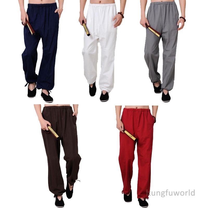 100% Cotton Kung fu Tai chi Pants Martial arts Wushu Wing Chun Trousers