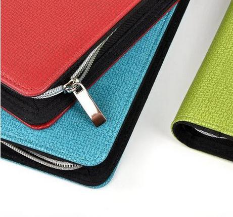 Nieuwe hete 2015 A5 / A6 zakelijke notebook rits tas comercial - Notitieblokken en schrijfblokken bedrukken - Foto 5