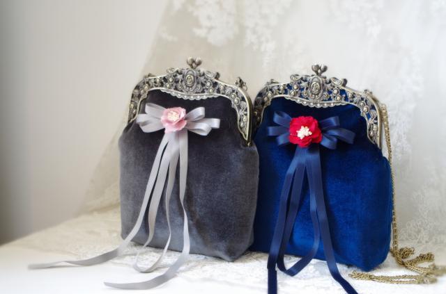 Sac à main velours soirée pochette Vintage rétro portefeuille sac à main sacs à main gris/bleu femmes sac en velours avec fleur noeud diamant sac Fatasy