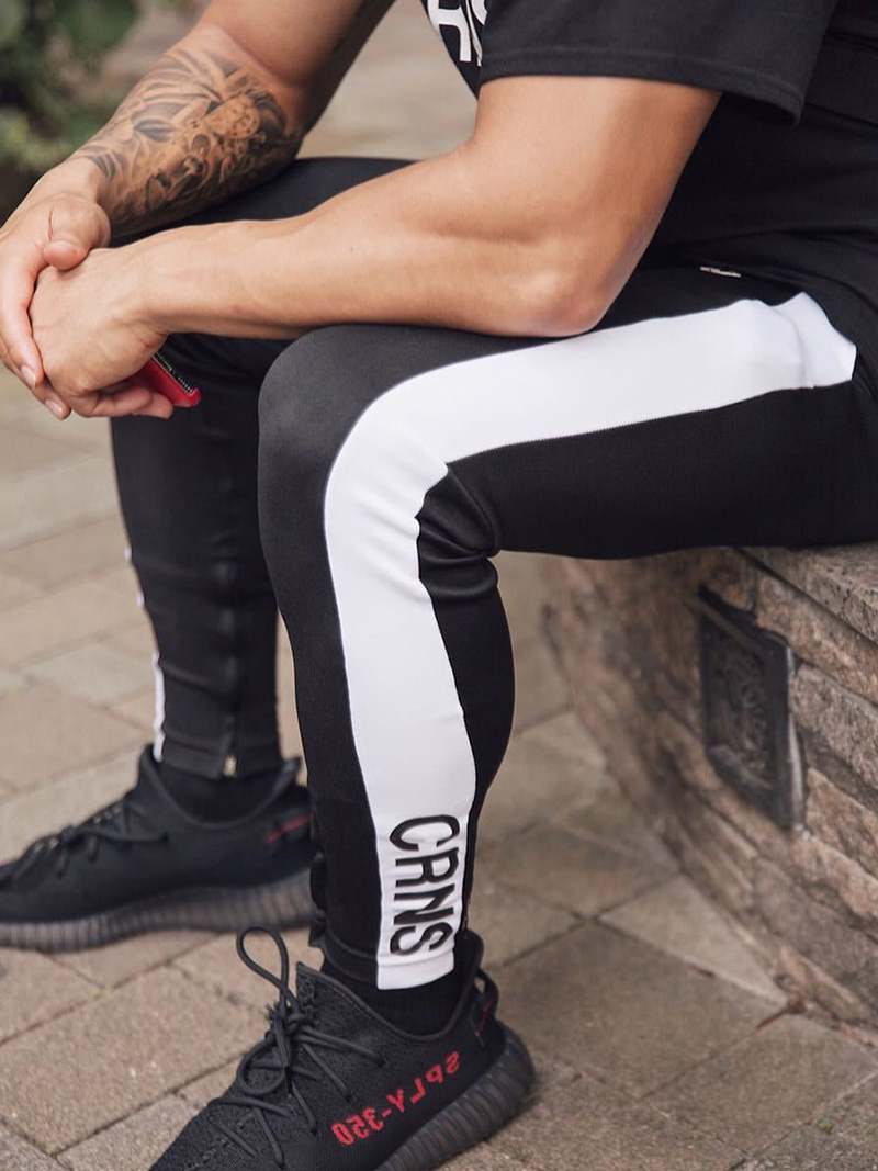 Mens Joggers Casual Pants Fitness Men Sportswear Bottoms Skinny Sweatpants Trousers Fashion Gyms Jogger Track Pants 16