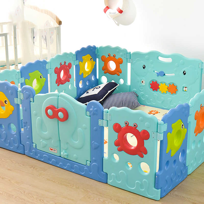 Cuddly Baby 19 Panel Plastic Baby Playpen Kids Toddler Fence Outback Retro