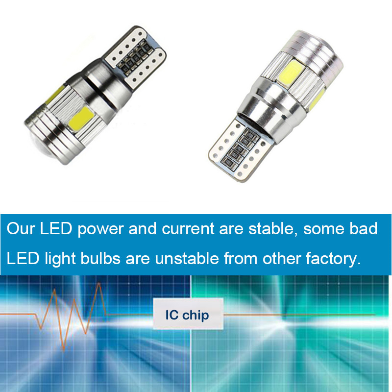 For Skoda Octavia Rapid Fabia Yeti Octavia A5 A7 Superb 2 x T10 W5W Car LED Auto Lamp 12V Parking bulbs with Lens City Light