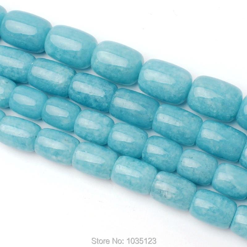 Free Shipping10x12-15x20mm Natural Light Blue Aquamarines Column Shape Loose Beads Strand 15 DIY Jewellery Making wj271