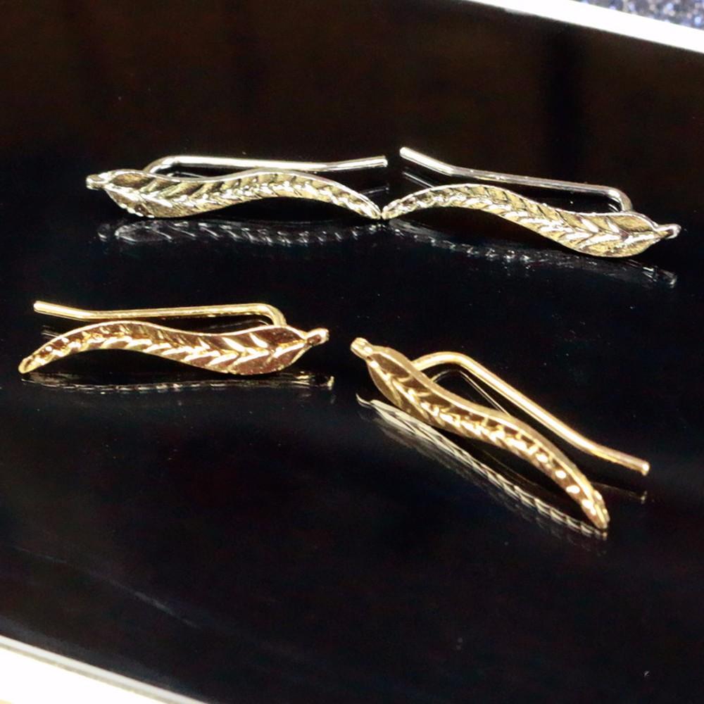 HTB1CXu5NXXXXXbSXpXXq6xXFXXXH Golden | Silver Leaf Feather Stud Earrings For Women