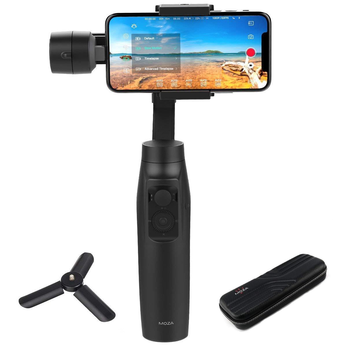 Stabilisateur de cardan tenu dans la main de MOZA mi ni mi ni-mi 3 axes pour Huawei Mate 20 10 pour Samsung Galaxy S8, S9 Note 8,9 pour Xiao mi 8,7, 6