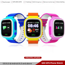 2019 Hot Sale Q90 Kids phone Watch GPS Smart Phone 1.22 Inch Color Touch Screen WIFI SOS Voice Call Childrens