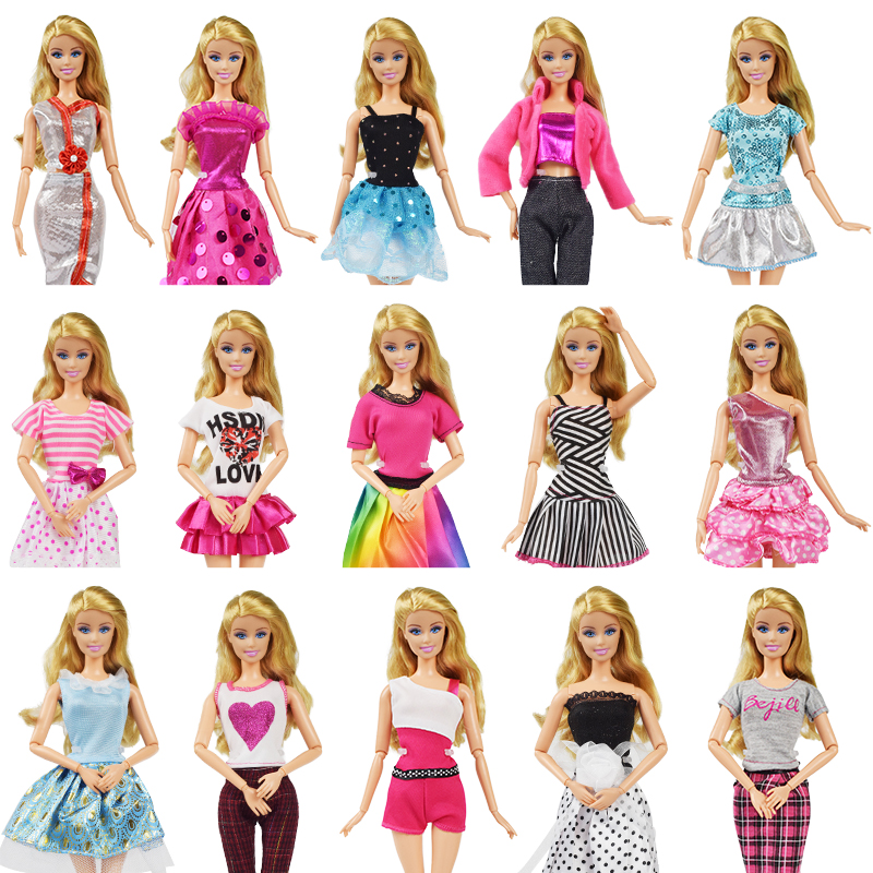 Fashion Party High Quality Doll Clothes Dress Accessories Best Gift Girl Toys Elegant Pants Skirt for Barbie Doll Accessories doll accessories american girl doll clothes 15 styles princess skirt dress suit for 16 18 inch dolls girl best gift d1