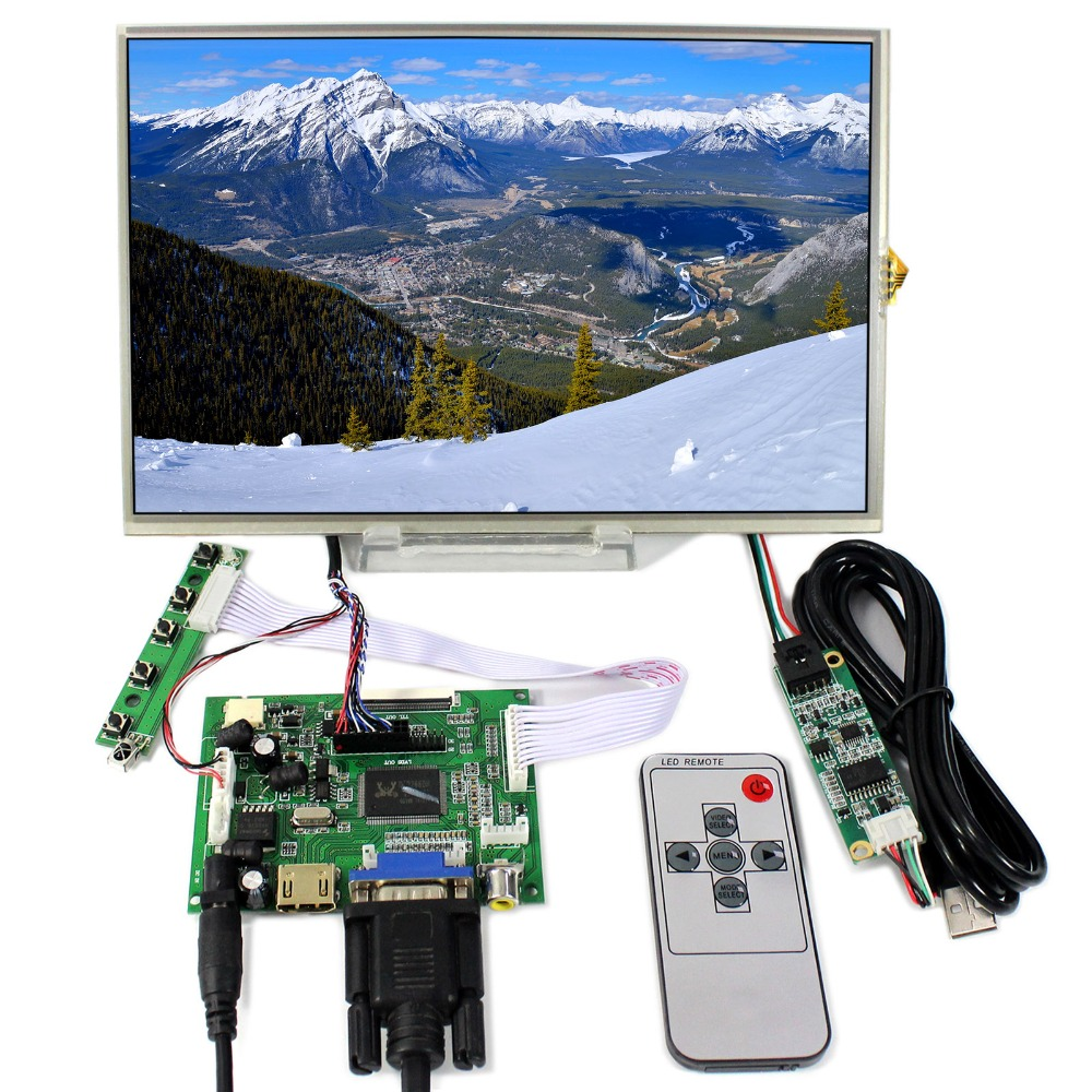 HDMI+VGA+2AV LCD Controller Board With 10.1inch 1280x800 B101EW05 LP101WX1 Touch LCD free shipping brand new a lp101wx1 sln2 lp101wx1 sln2 for lenovo y1011