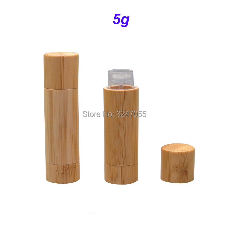 5g Empty Bamboo Lipstick Tube, Directly Filling DIY Bamboo Professional Lip Balm Filling Bottle, Natural Bamboo Lipstick Tube city shop ncs107 horse oil repair lip balm 1 5g