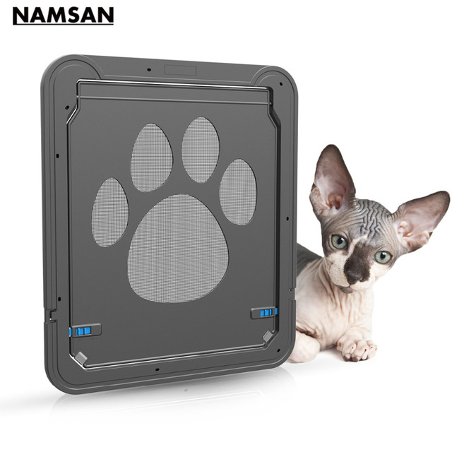 Namsan New Pet Supplies Dog Door Hole Cat Door Creative Pet Door Gauze Door  Automatically Closed