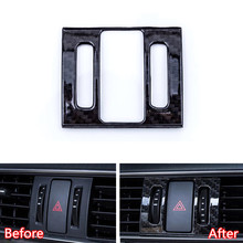 YAQUICKA For Mazda 6 Atenza 2017 2018 Carbon Fiber Style Car Dashboard Warning Light Lamp Switch Frame Cover Sticker Accessories