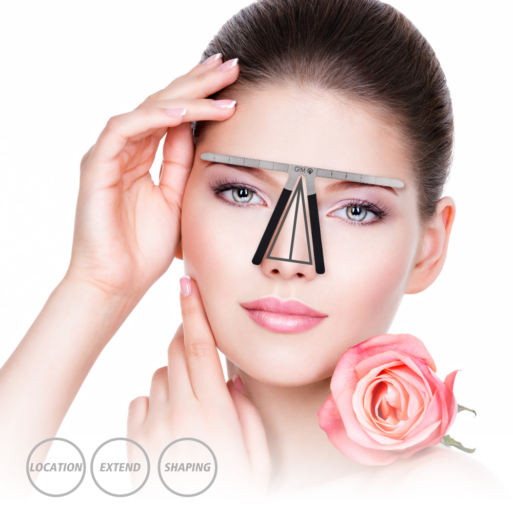 permanent makeup tattoo eyebrow eyeliner template ruler. Black Bedroom Furniture Sets. Home Design Ideas