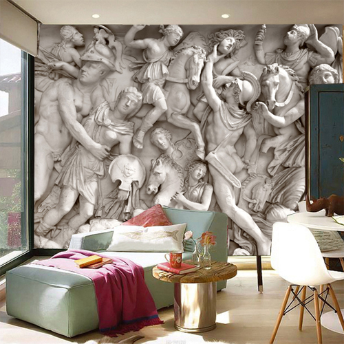 online shop european roman sculpture like retro art wallpaper