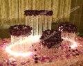 5 pçs/set carrinho do bolo de casamento tabela do casamento de cristal peça central do partido decoratin fornecedor de casamento titular bolo de casamento 05D2