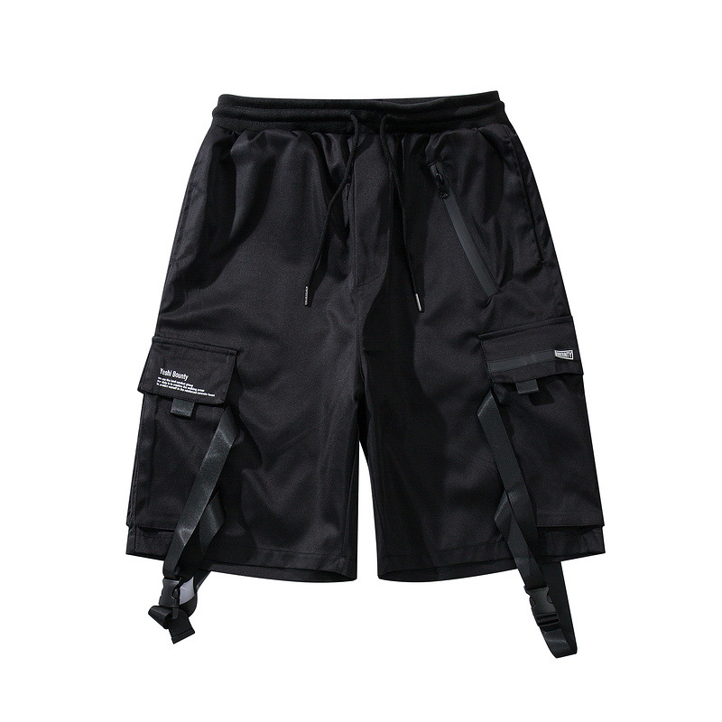 multi-pocket men Harem pants cargo   shorts   elastic waist street punk hip hop casual   short   joggers drop shipping Hip hop pants
