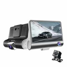 Car DVR 3 Lens 1080P HD 170 Angle Triple lens Dash Camera G-sensor Recorder and Rearview Camera 3 Way Camera Night vision Cam 1080p hd 5 inch car dvr video night vision rearview mirror 170 degree wide lens dash cam camera recorder g sensor