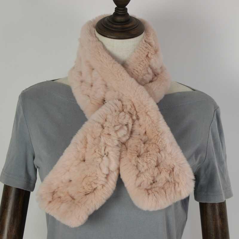 Роскошные женские зимние осенние шарфы из натурального кроличьего меха женские меховые шали