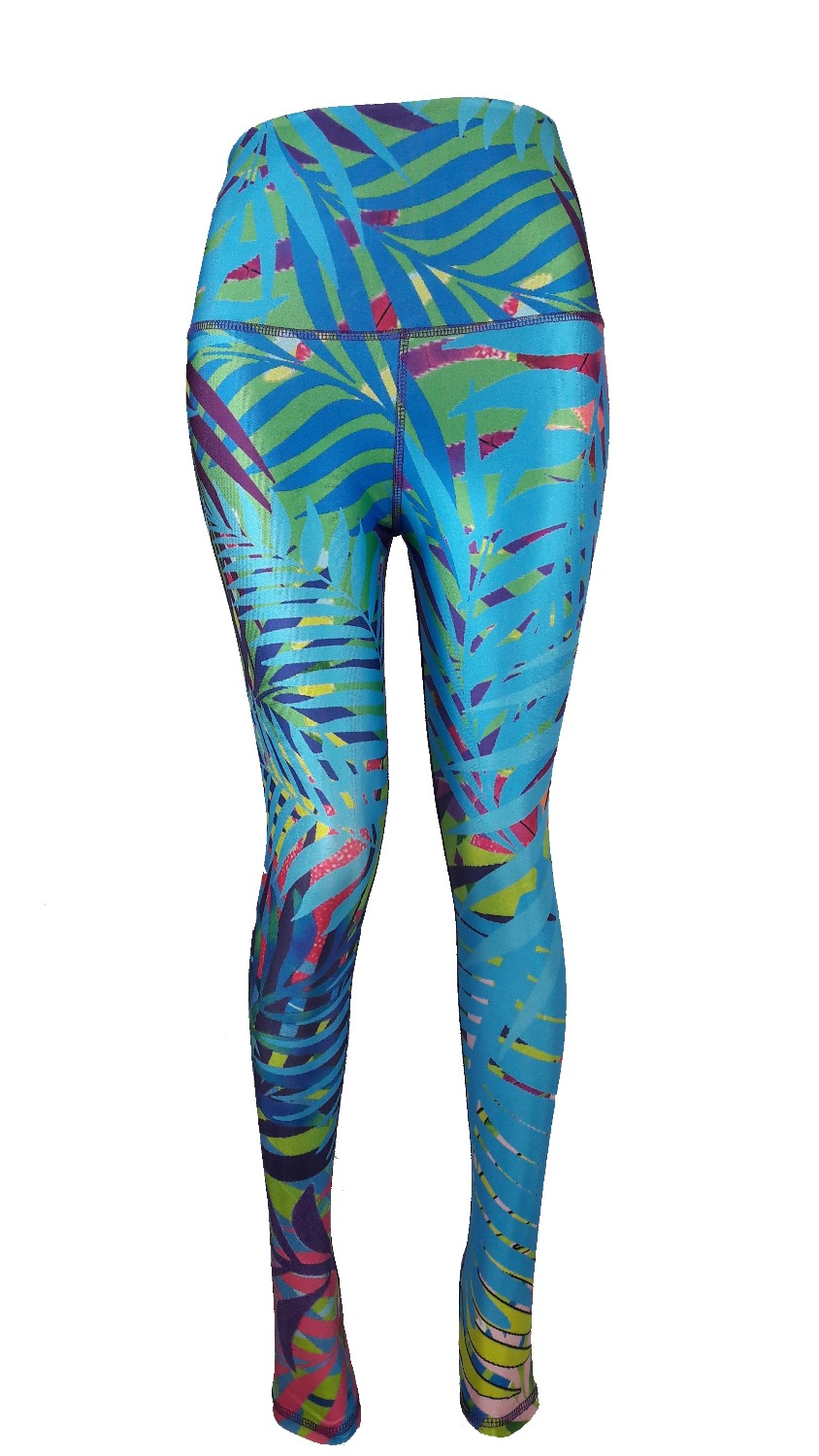 c6b9bb4276b77 JIGERJOGER 2016SS Spring Summer Thick Fabric Designer palm jungle Tropical  leaves Workout Running leggings Sports Yoga pants