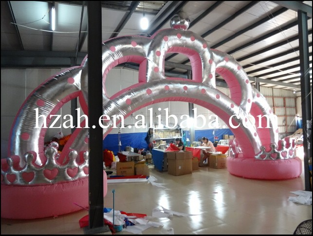 Wedding Decoration Inflatable Arch Crown commercial sea inflatable blue water slide with pool and arch for kids
