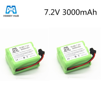 NI-MH 3000mAH 7.2v AA rechargeable battery for rc car Telerobot boat Tank toy tools model 7.2 v 3000 mAH Electric toys nimh