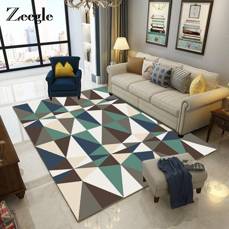 Zeegle Nordic Stil Muster Teppiche Für Wohnzimmer Moderne Matte Anti Slip  Büro Stuhl Fußmatten Waschbar Schlafzimmer Bereich Teppiche