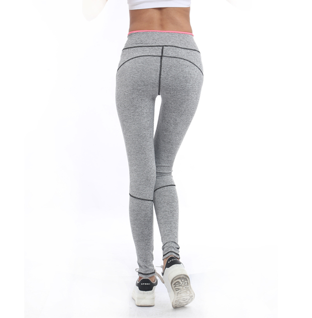 Lady Activewear Leggings Light Grey And Pink