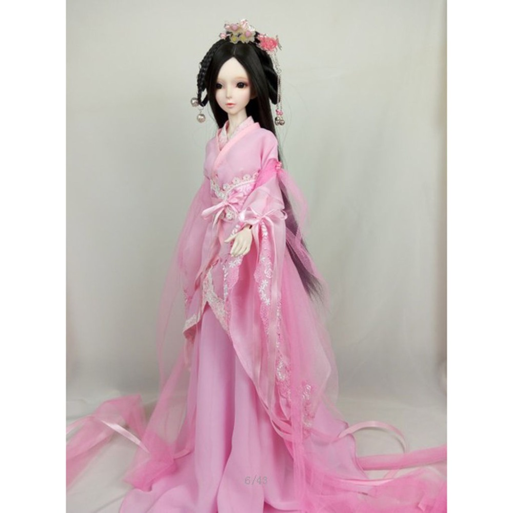 [wamami]699# Pink Ancient Costume/Dress/ Outfit For 1/3 SD AOD DOD DZ BJD Doll [wamami] 649 england style coat suit outfit clothes for 1 3 sd dz dod boy bjd
