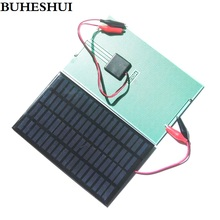 BUHESHUI  Epoxy 2.5W 18V Solar Cell+Clip DIY Polycrystalline Solar Panel System Chager For 12V Battery Light 194*120MM 10pcs/lot