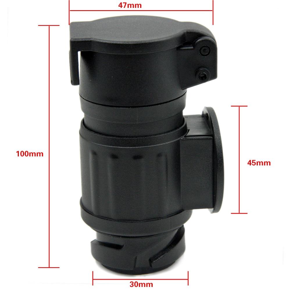 Encell 12V 13 7 Pin Plastic Socket Plug Car Styling Electrical Plug ...