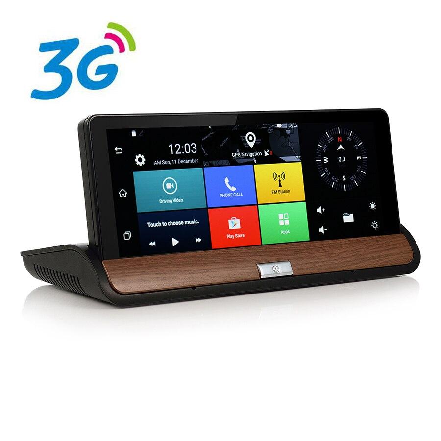 Udricare 7 inch 3G DVR Android Dashboard GPS Navigation Bluetooth WiFi Dual font b Camera b