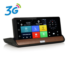 Udricare 7 pulgadas 3G DVR Android Tablero de Navegación GPS Bluetooth WiFi de doble Cámara de Visión Trasera 1 GB RAM Quad Core GPS FHD1080P DVR