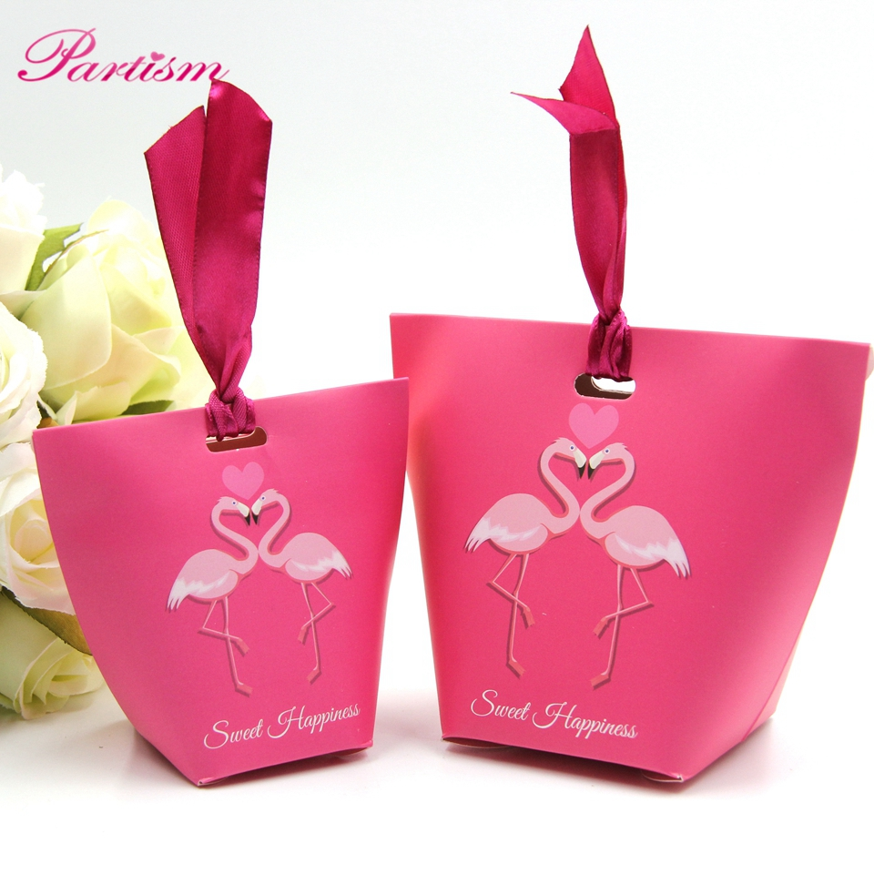 10Pcs/lot Folding DIY Coconut Tree wedding candy box wedding favors ...